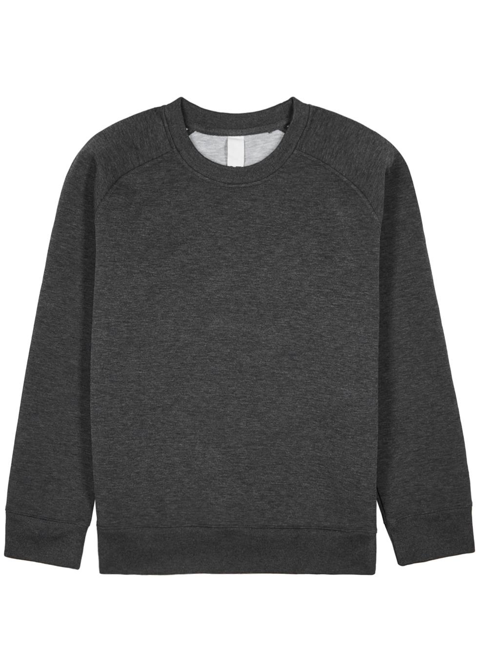 M.C. OVERALLS Dark Grey Neoprene Sweatshirt