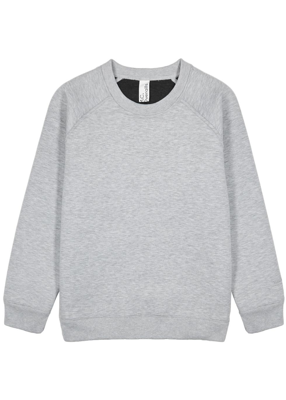 M.C. OVERALLS Light Grey Neoprene Sweatshirt