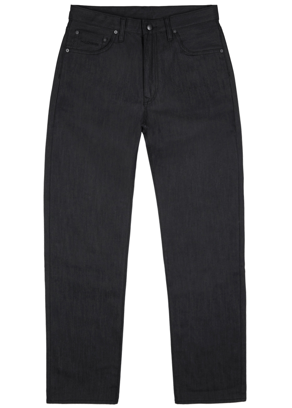 M.C. OVERALLS Reflective Straight-Leg Jeans in Dark Grey