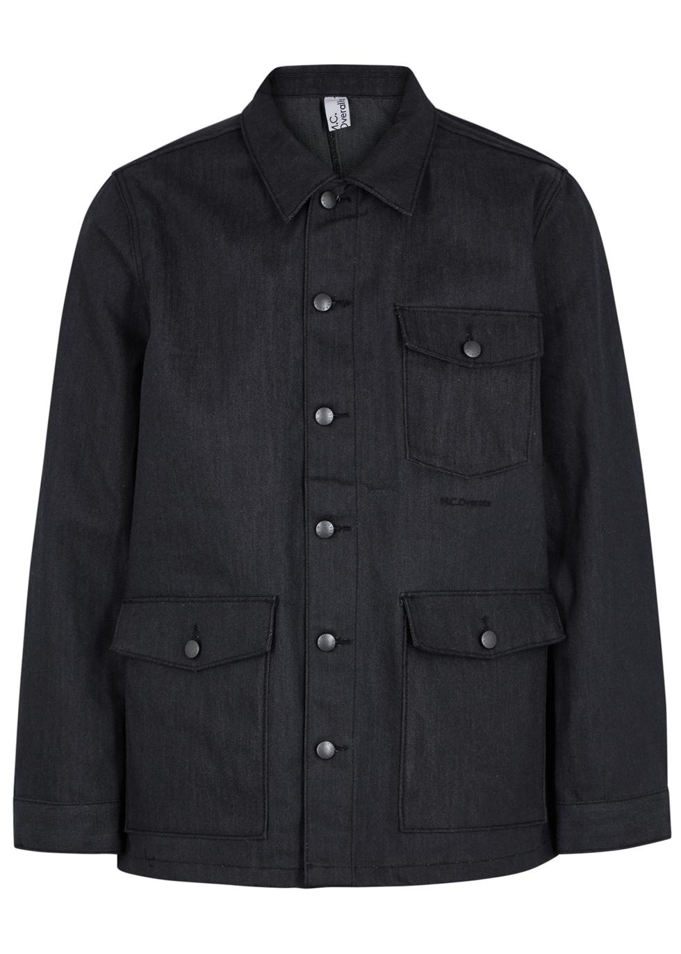 M.C. OVERALLS Anthracite Reflective Denim Jacket in Dark Grey