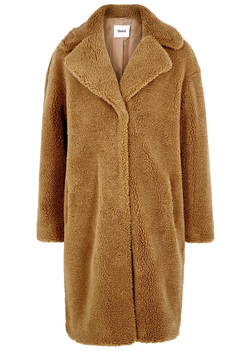 Camille brown faux shearling coat - Stand