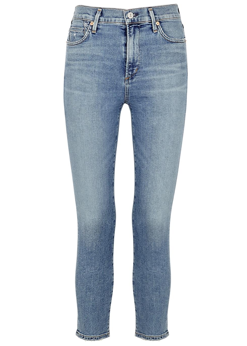 Rocket light blue cropped skinny jeans