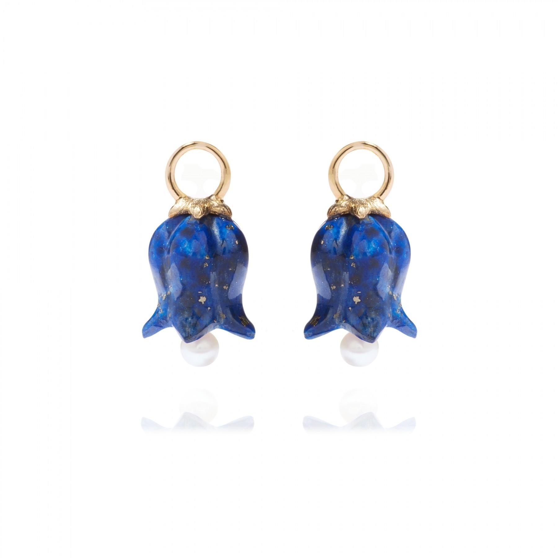 ANNOUSHKA Lapis Lazuli Tulip Earring Drops