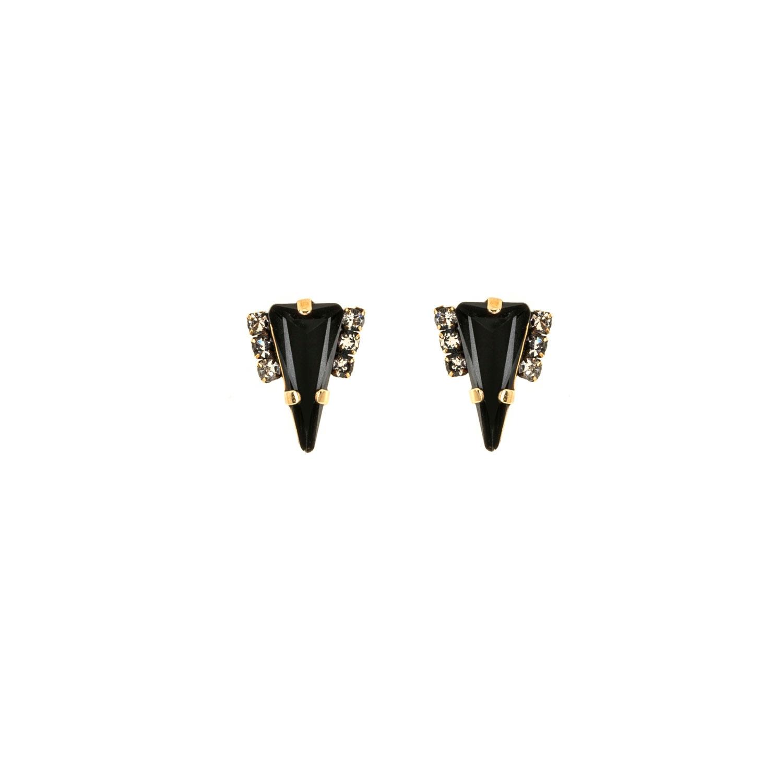 HALO & CO DISTRESSED BLACK TRIANGLE EARRINGS