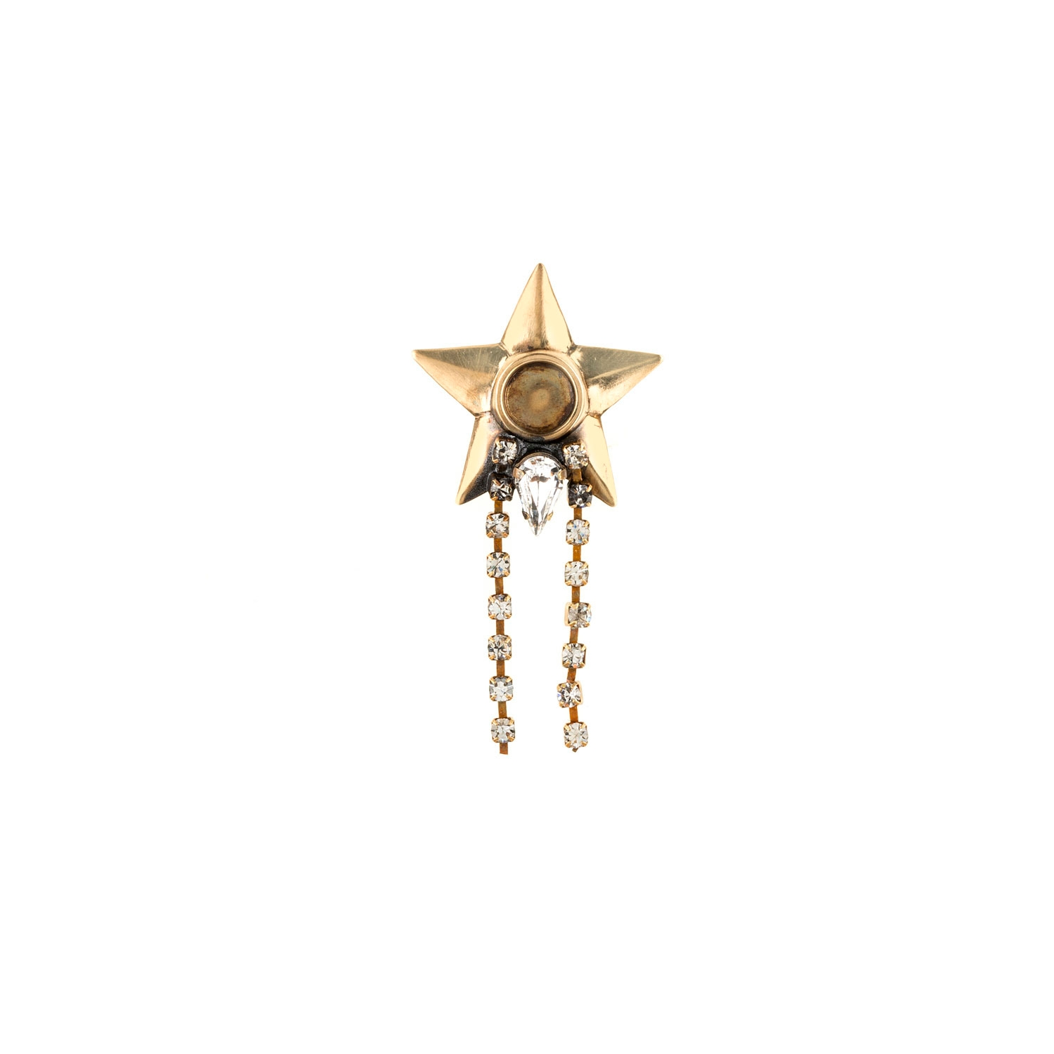 HALO & CO MONO DISTRESSED GOLD STAR EAR CUFF. WEAR IT WITH MULTIPLE CUFFS