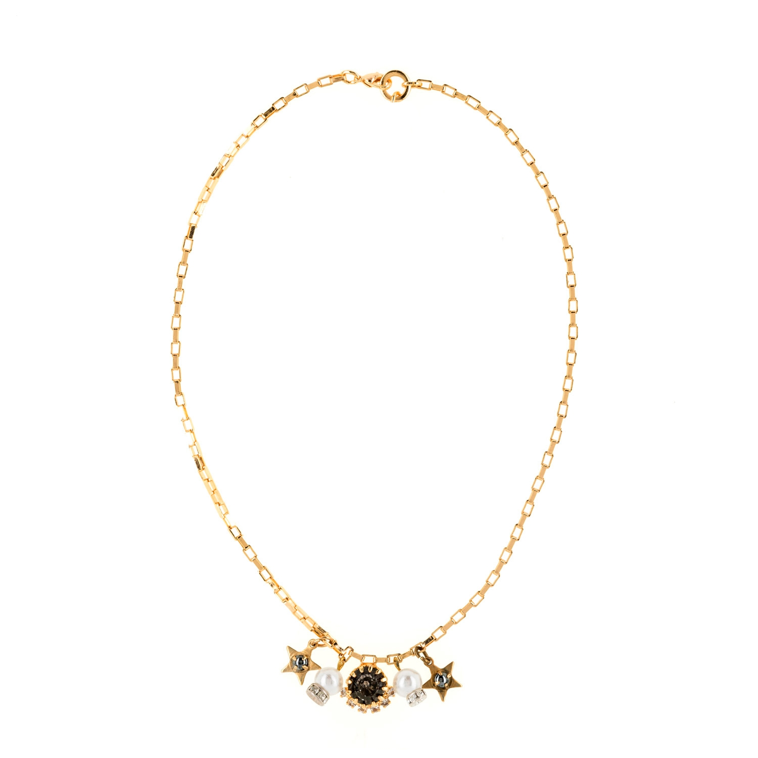 HALO & CO DAINTY CHARM CHAIN NECKLACE