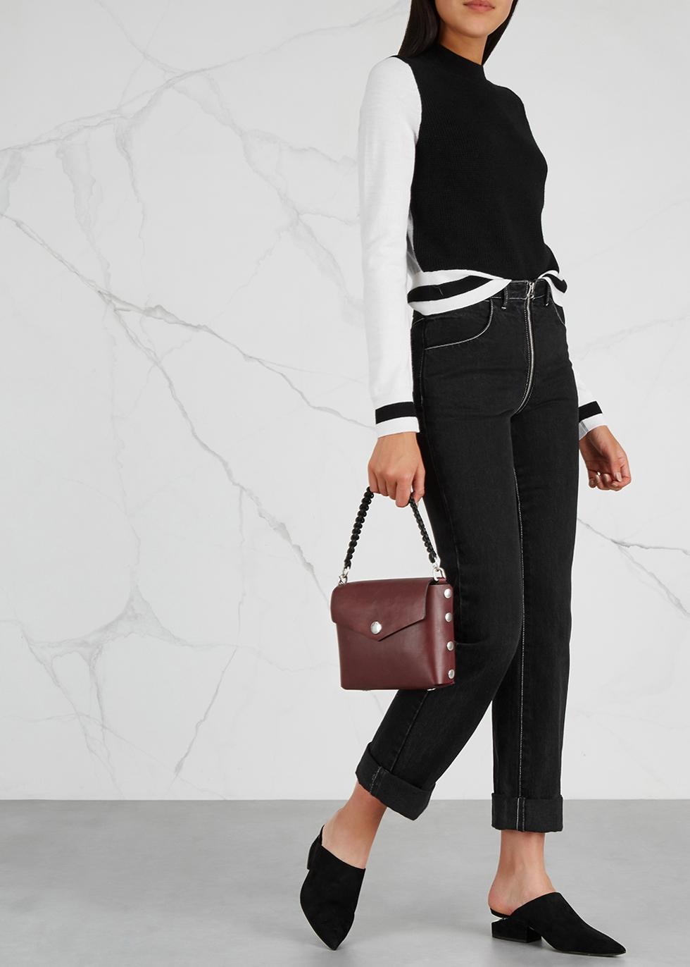 646b2485bc rag   bone Atlas burgundy leather shoulder bag - Harvey Nichols