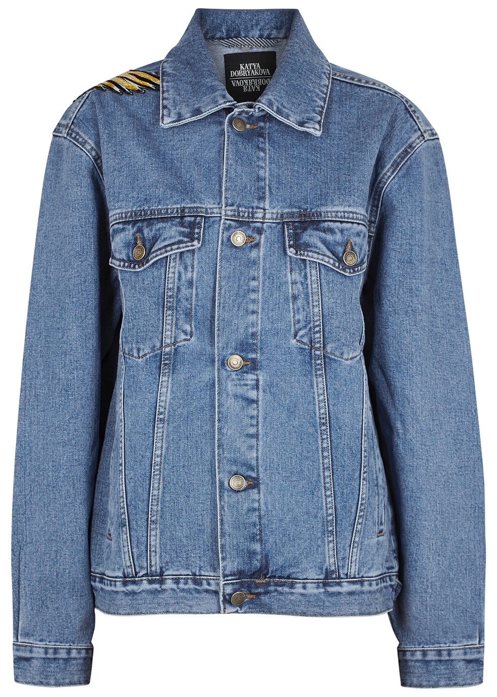 KATYA DOBRYAKOVA Cranes Oversized Denim Jacket