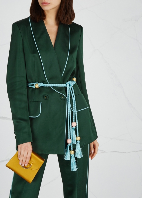 Dark green satin blazer - Peter Pilotto