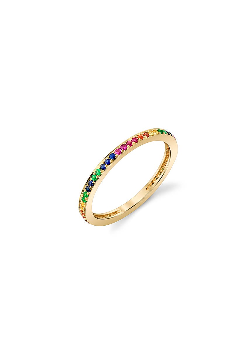 8b499c9a9 14ct yellow gold rainbow eternity ring 14ct yellow gold rainbow eternity  ring. Sydney Evan