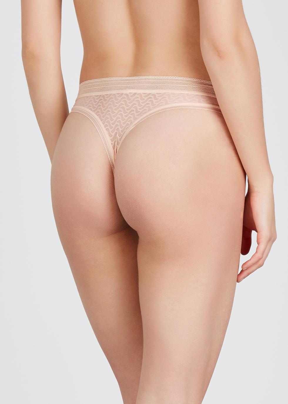 Aphrodite blush lace thong - Wacoal