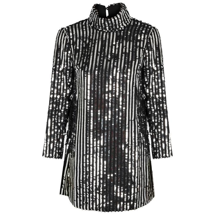 Rixo London Bardot sequin-embellished mini dress
