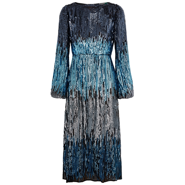 Rixo London COCO SEQUIN-EMBELLISHED DRESS