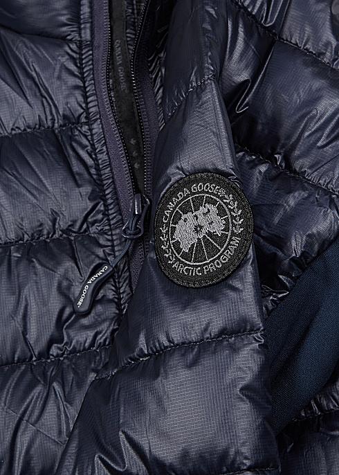 6106f25137e Canada Goose HyBridge Lite navy shell and jersey jacket - Harvey Nichols