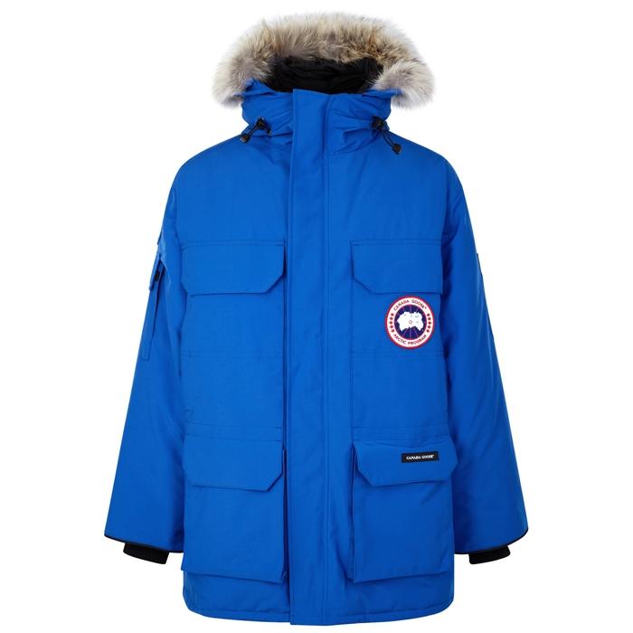 Canada Goose PBI Expedition Blue Fur-trimmed Parka