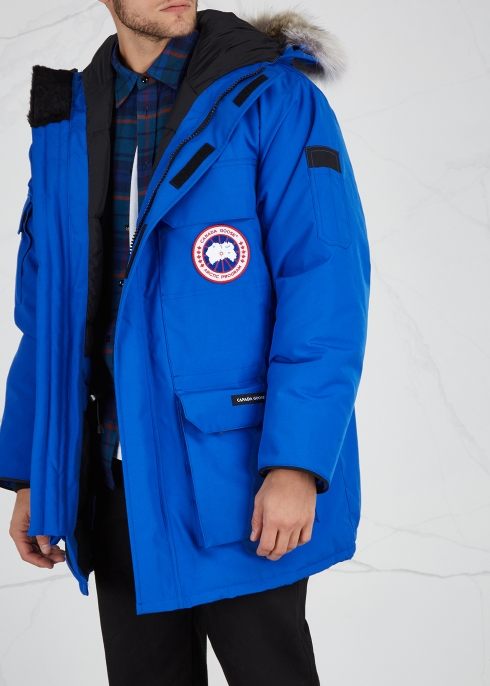 125f6982c927 Canada Goose PBI Expedition blue fur-trimmed parka - Harvey Nichols