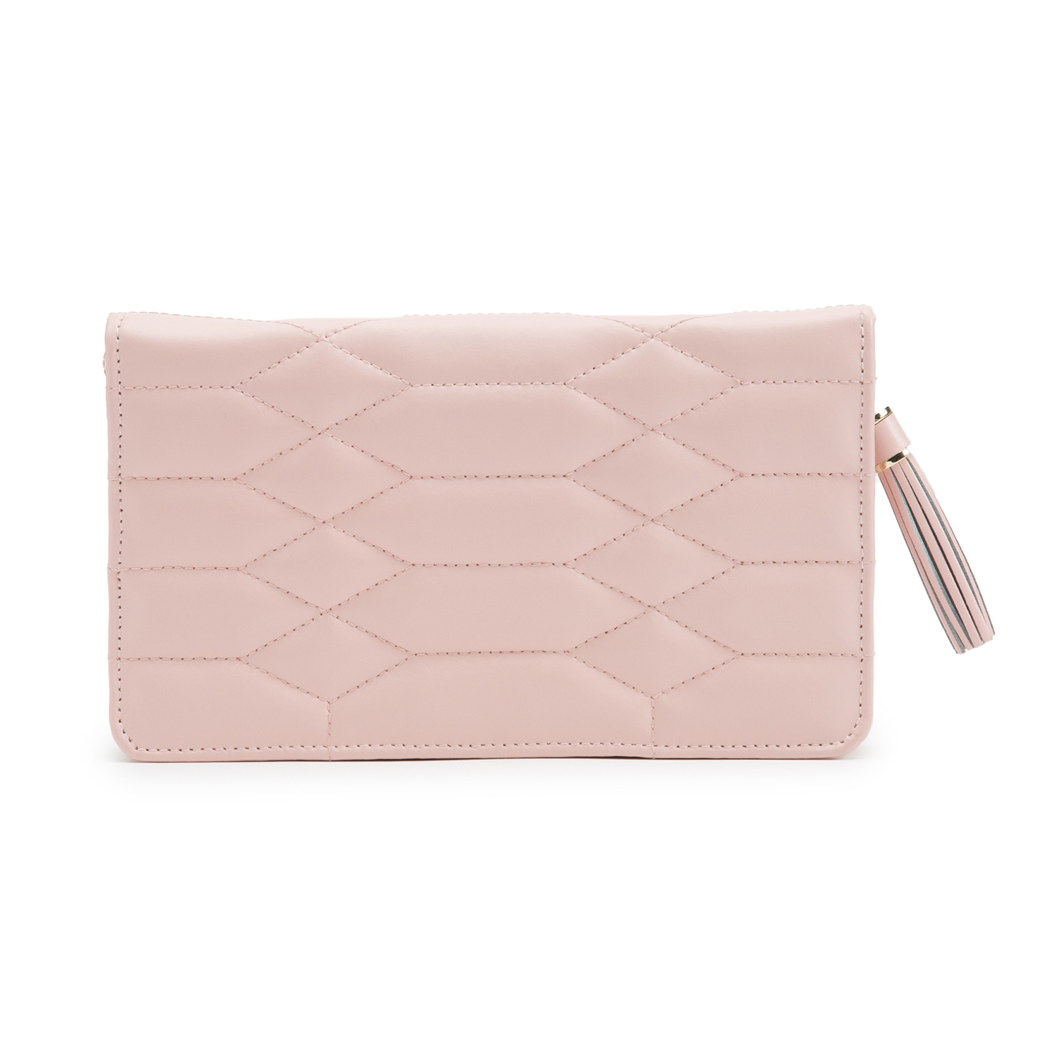 WOLF THE ALKEMISTRY PINK QUILTED LEATHER JEWELLERY POUCH