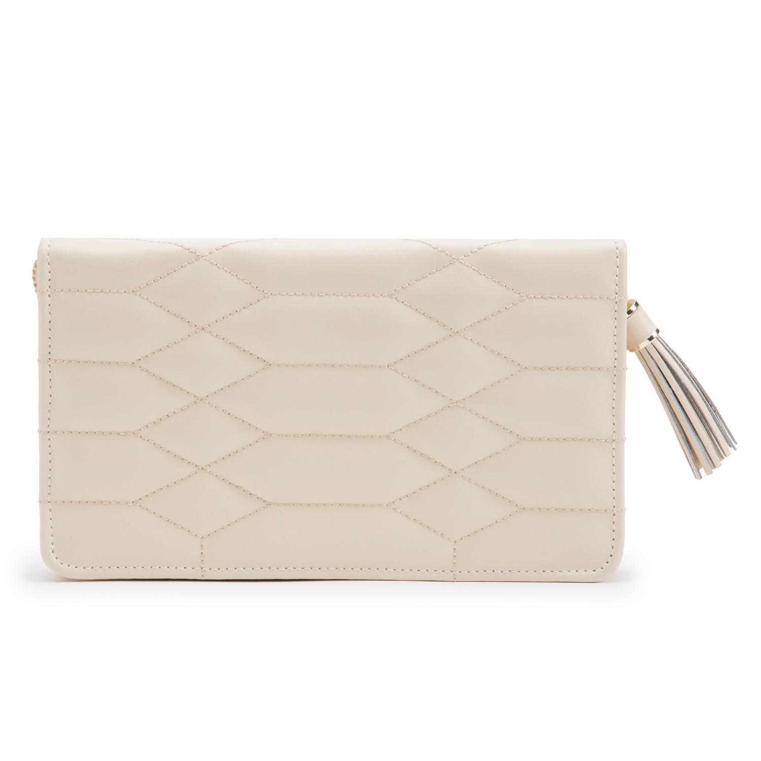 WOLF THE ALKEMISTRY CREAM QUILTED LEATHER JEWELLERY POUCH