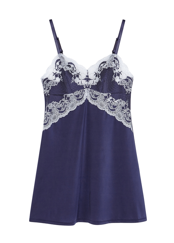 711f7a1df9 Lace Affair navy chemise ...