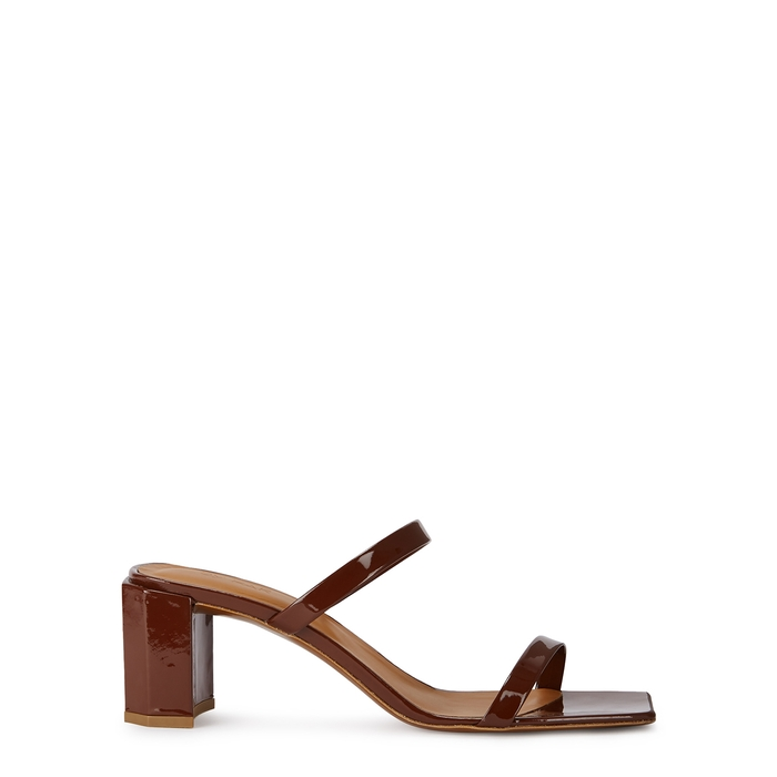 By Far Mules Tanya 65 brown leather mules