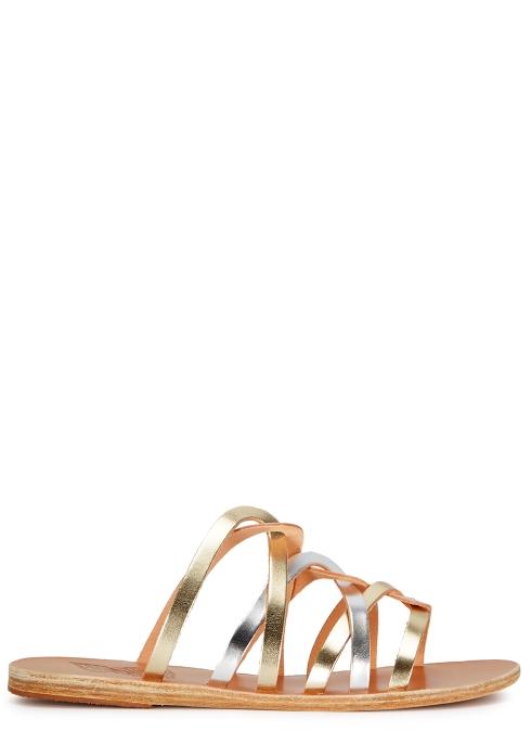 145c90ca74b Ancient Greek Sandals Donousa metallic leather sandals - Harvey Nichols