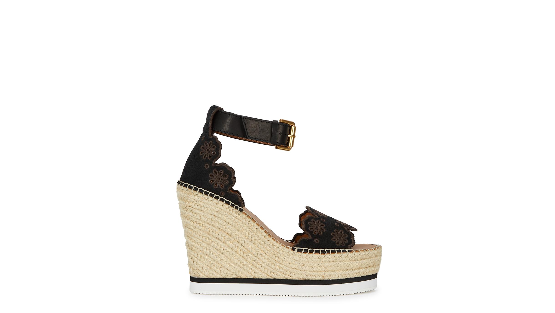 2eeed82bb8ec See by Chloé Glyn 125 suede espadrille wedge sandals - Harvey Nichols