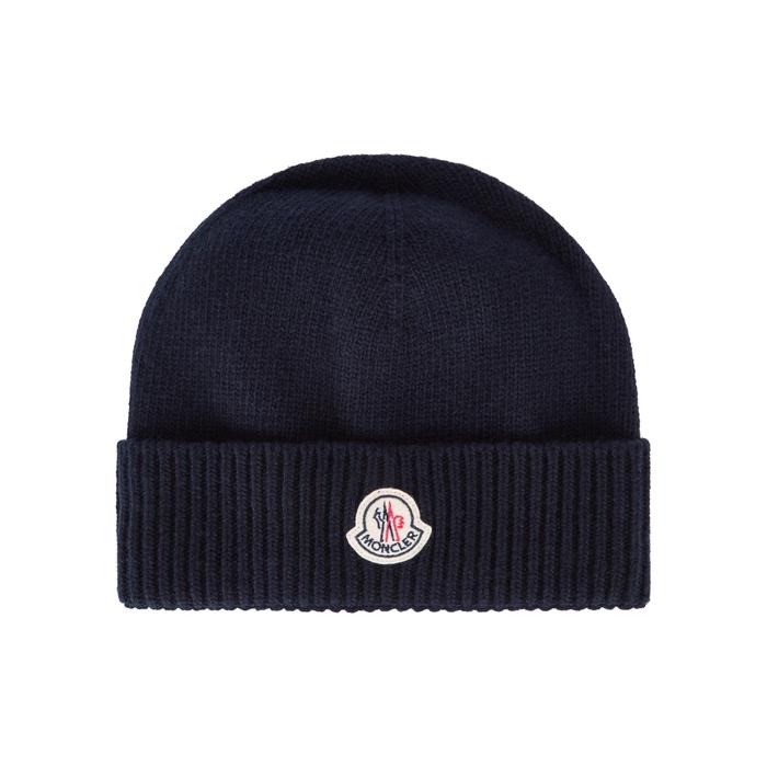 Moncler Navy Wool Beanie