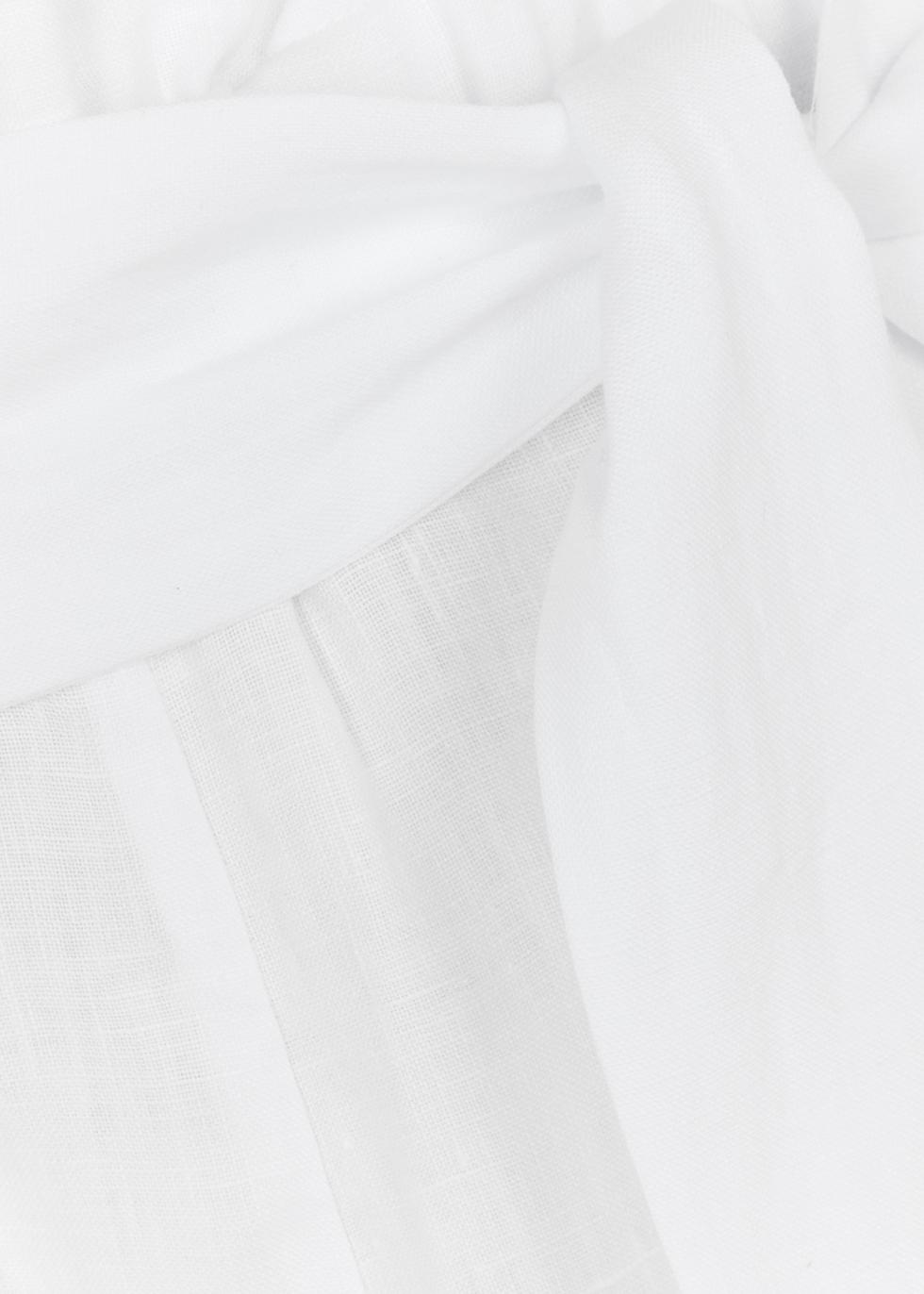 White wide-leg linen trousers - ASCENO