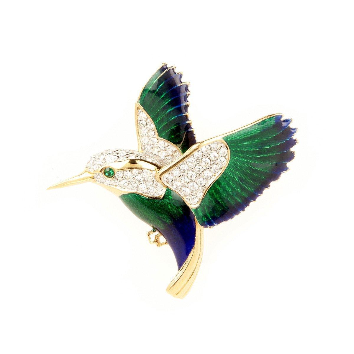1960S VINTAGE ATTWOOD & SAWYER HUMMINGBIRD BROOCH
