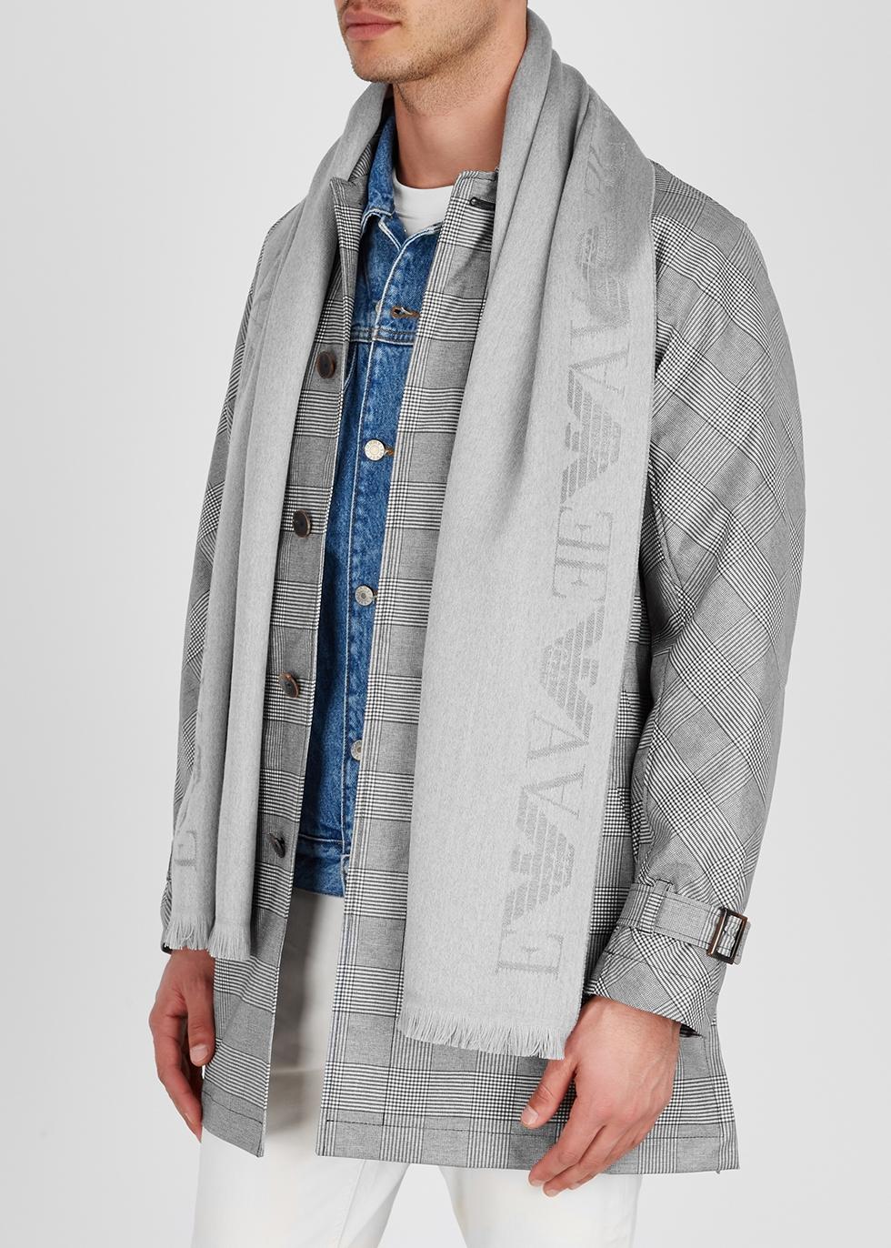 Silver wool scarf - Emporio Armani