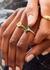 Audrey crystal-embellished ring - V by Laura Vann