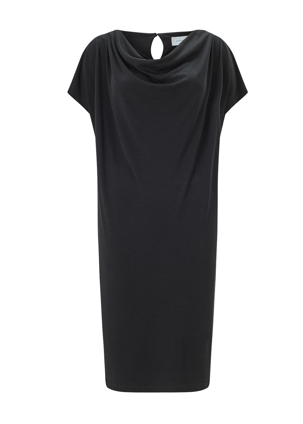 MODERN COWL NECK DRESS