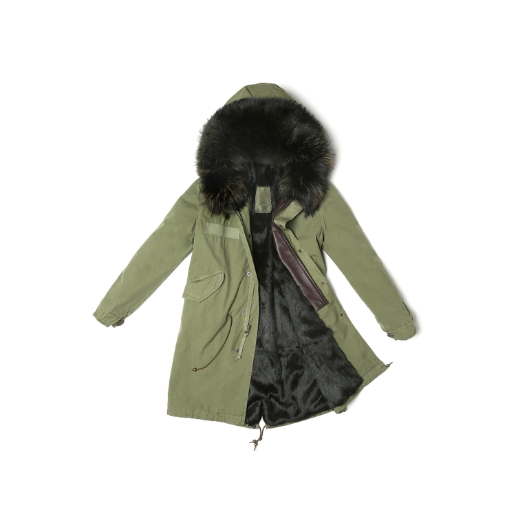 Mr & Mrs Italy ARMY PARKA RABBIT FUR