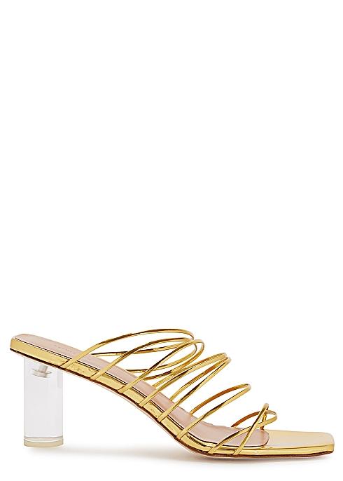 baf6a5328b Rejina Pyo Zoe 65 metallic leather sandals - Harvey Nichols