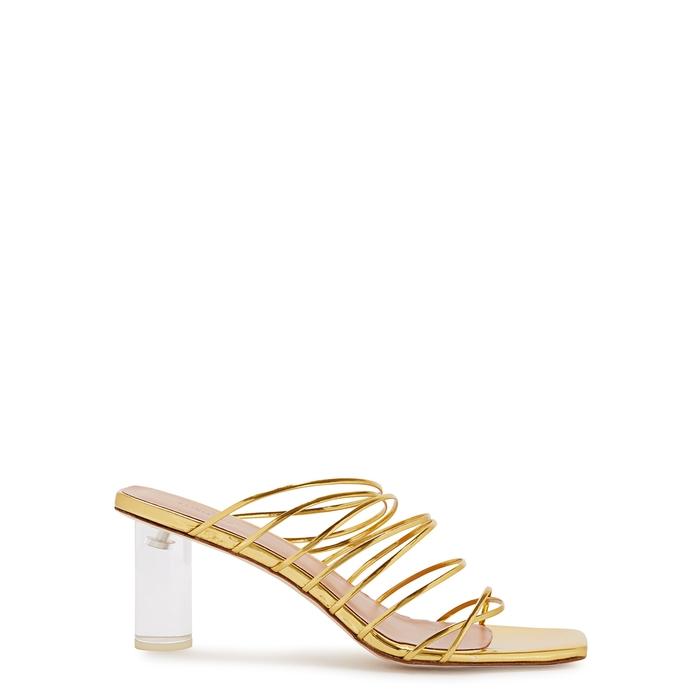 Rejina Pyo Sandals Zoe 65 metallic leather sandals