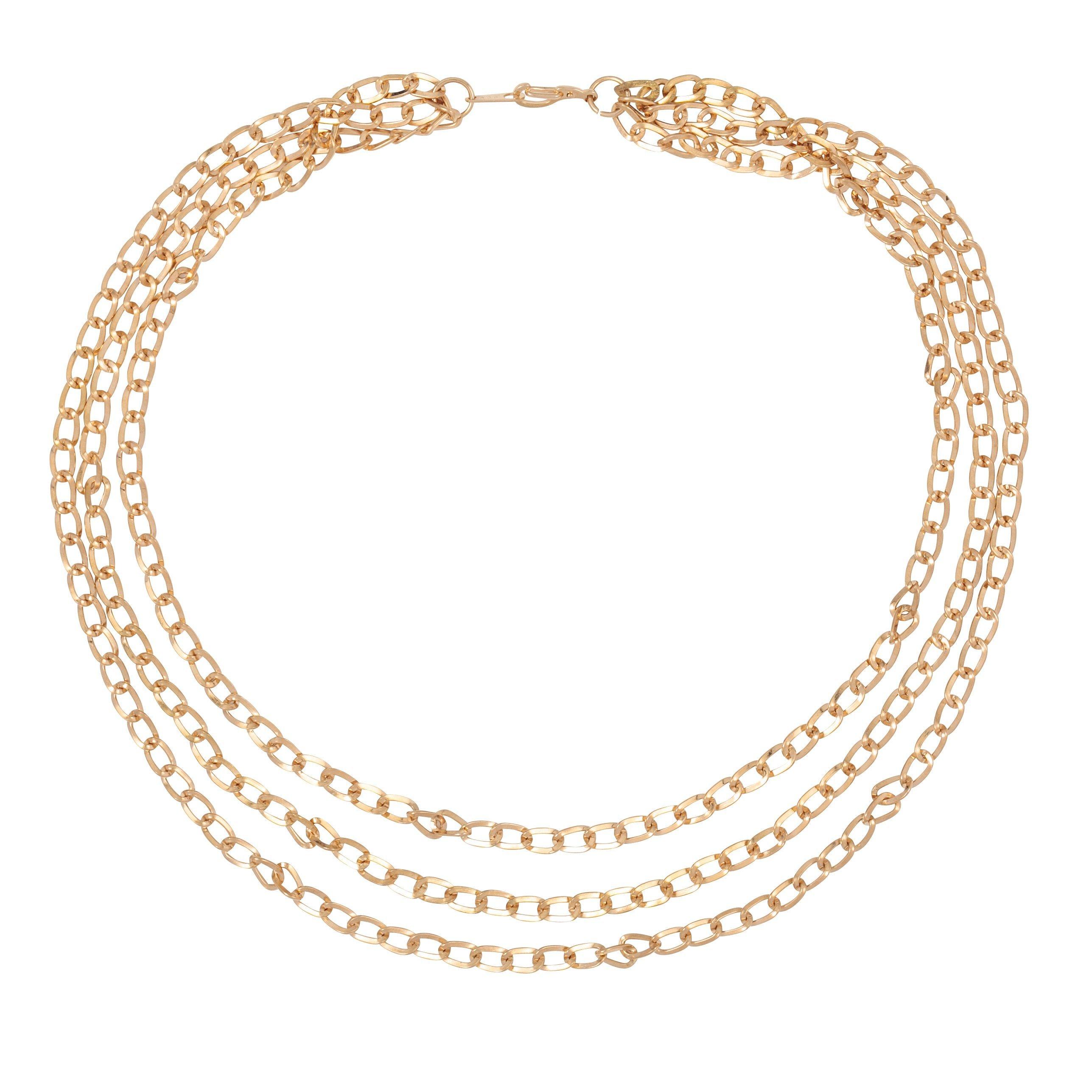 SUSAN CAPLAN VINTAGE 1990S VINTAGE GOLD PLATED MULTICHAIN NECKLACE