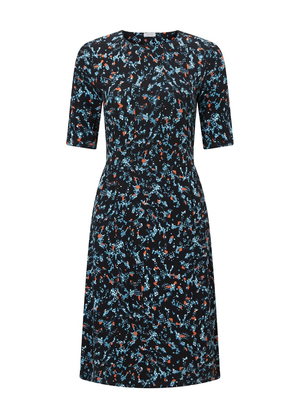 JIGSAW ISLAND PRINT WAISTED DRESS