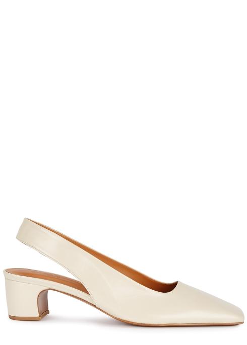 d386aea7b76b by FAR Danielle 40 ecru slingback leather sandals - Harvey Nichols