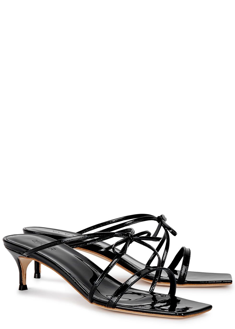 January 50 black patent leather sandals - BY FAR