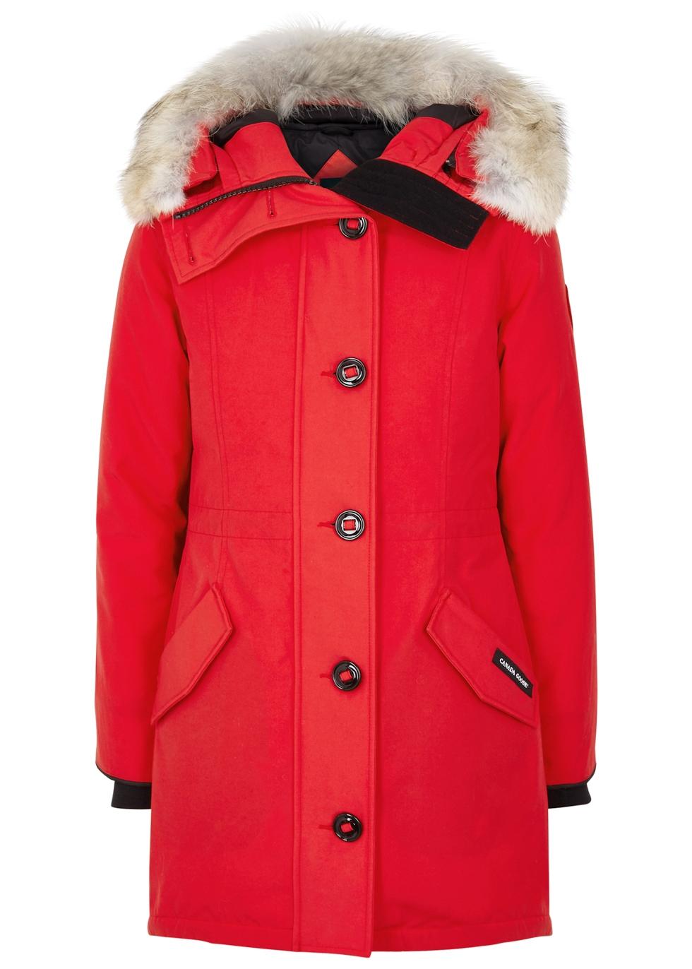 canada goose rossclair tech parka jacket w/ fur