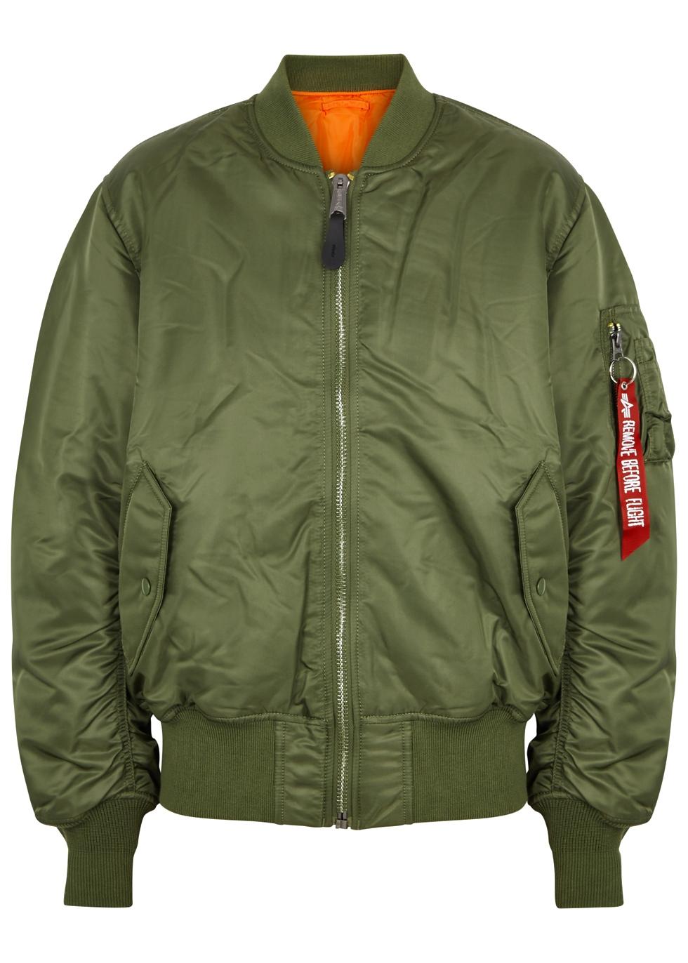 Alpha Industries MA 1 reversible shell bomber jacket