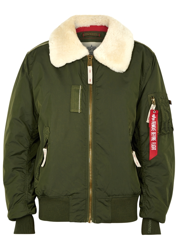 Injector III shearling-trimmed bomber jacket Injector III shearling-trimmed bomber  jacket. Alpha Industries 04d929019fea