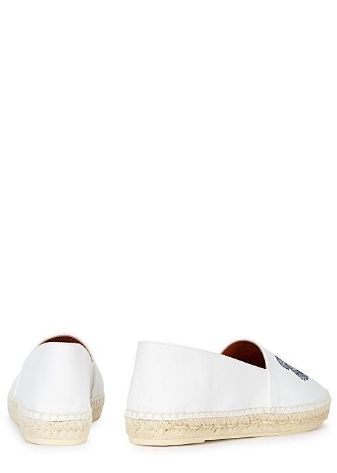 94711ea1 Kenzo Off-white tiger-embroidered canvas espadrilles - Harvey Nichols