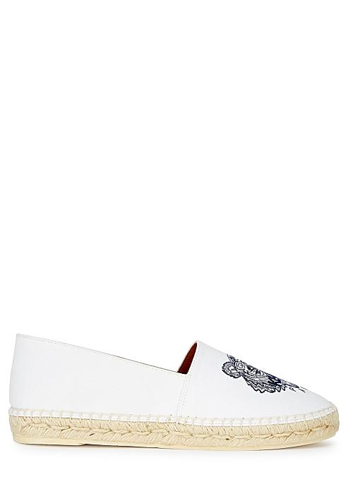 41ca04ca50 Kenzo Off-white tiger-embroidered canvas espadrilles - Harvey Nichols