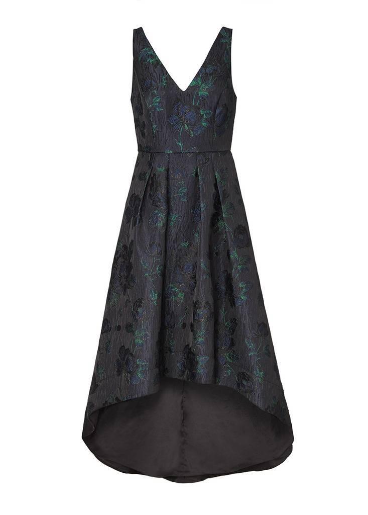 AIDAN JACQUARD HIGH LOW DRESS