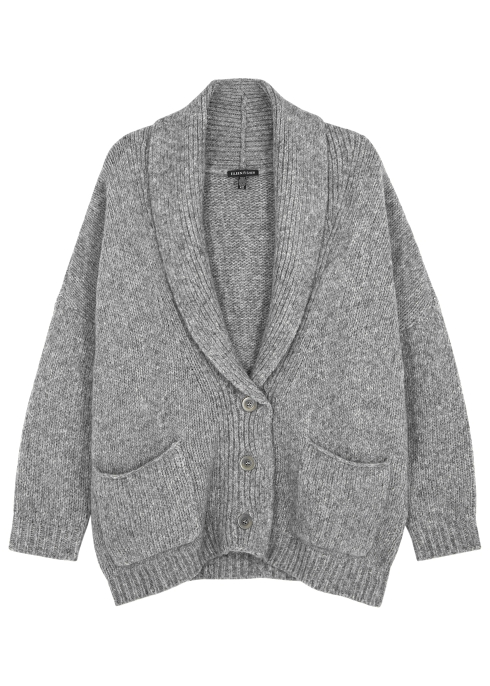2c1c05473 EILEEN FISHER Light grey alpaca-blend cardigan - Harvey Nichols