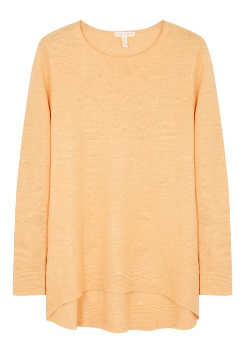 f7181661dd3a EILEEN FISHER Marigold fine-knit linen jumper - Harvey Nichols