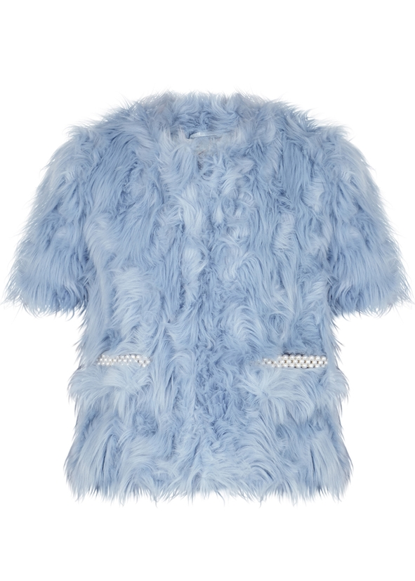 18f2bc85e2db Atria blue faux fur jacket ...