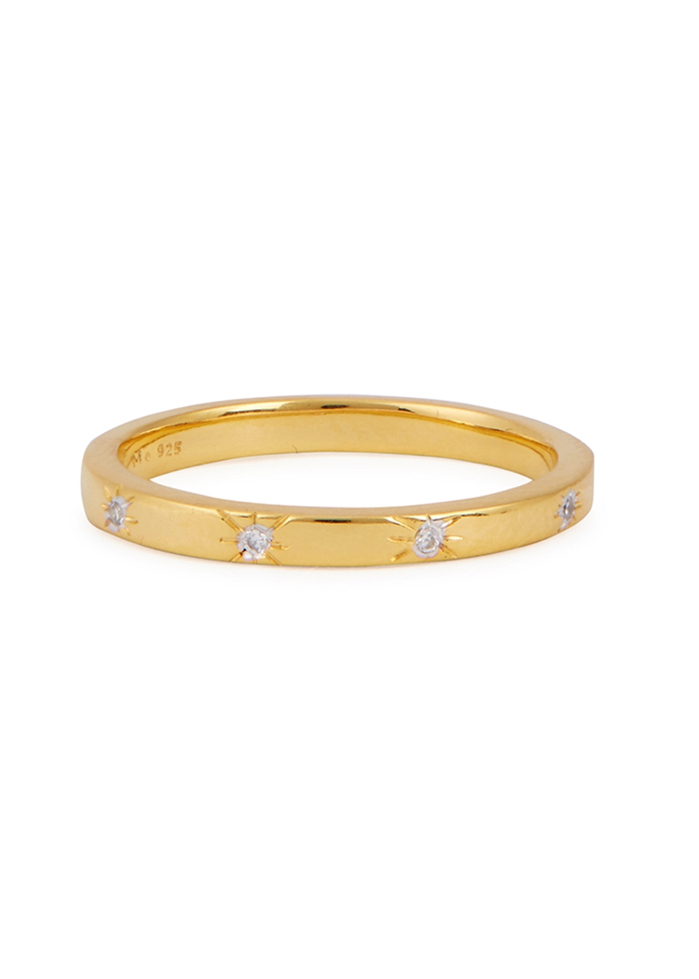 MISSOMA Thin Crystal Ring in Gold