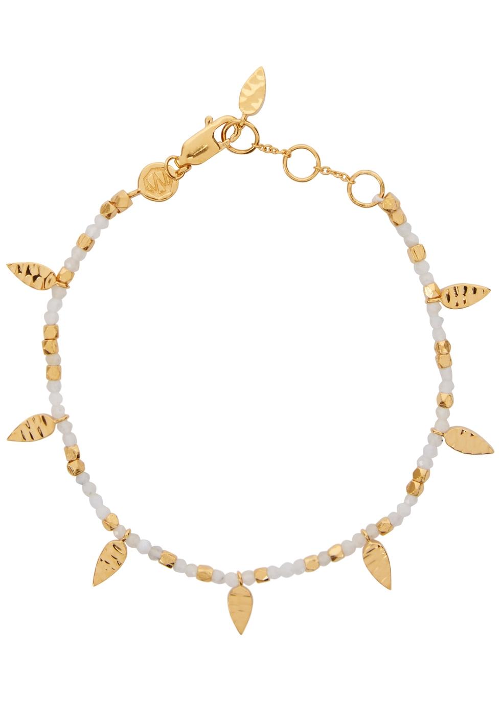 MISSOMA Rainbow Moonstone Gold-Plated Bracelet in White